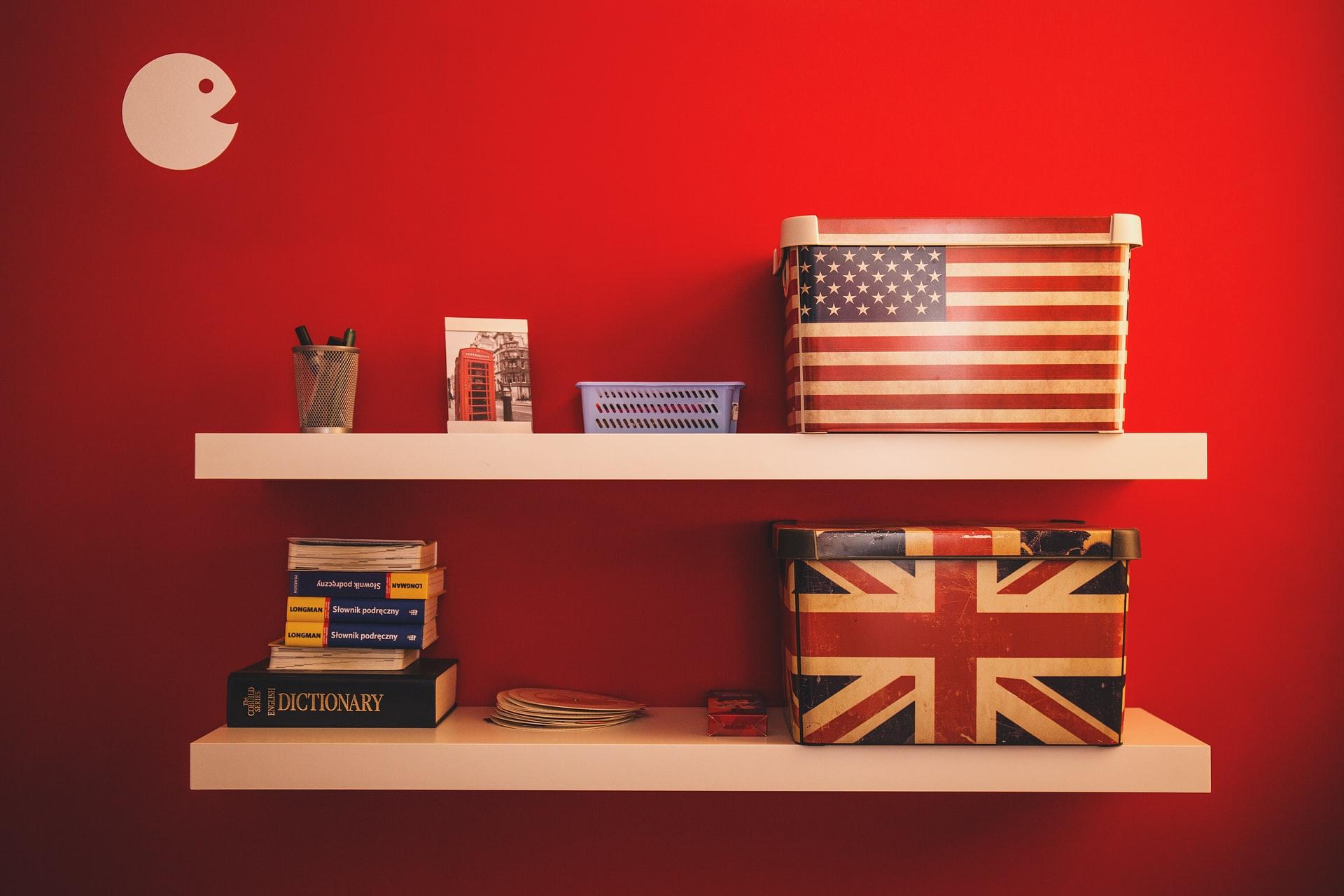 Diferencias entre el vocabulario US y GB